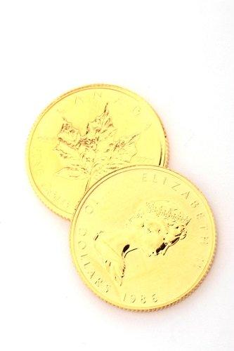 24金(K24・純金) メイプルリーフ金貨2枚 15.5g