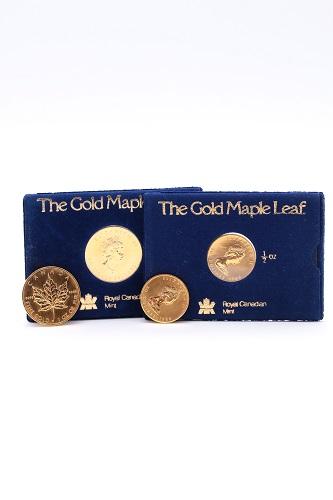 24金(K24・純金) メイプルリーフ金貨4枚 総重量93.5g