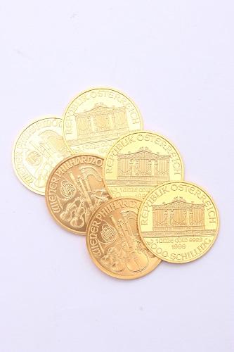 24金(純金) ウィーン金貨ハーモニー 総重量 約186.6g