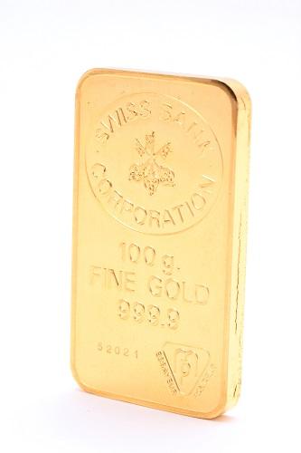 24金(純金) インゴット1枚 総重量100g