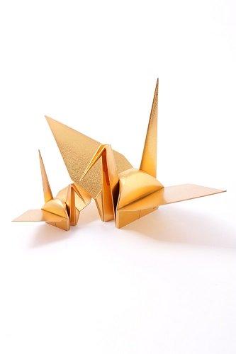 24金(K24・純金) 折鶴の置物 総重量349.7g