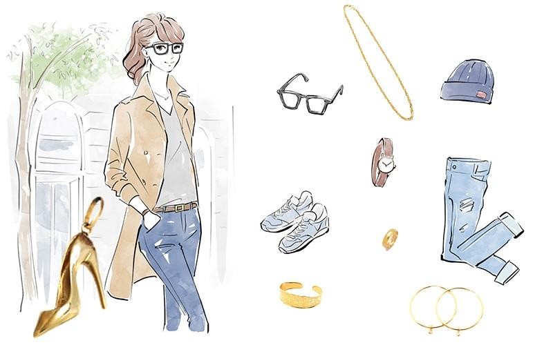 イエローゴールドのファッションイメージ