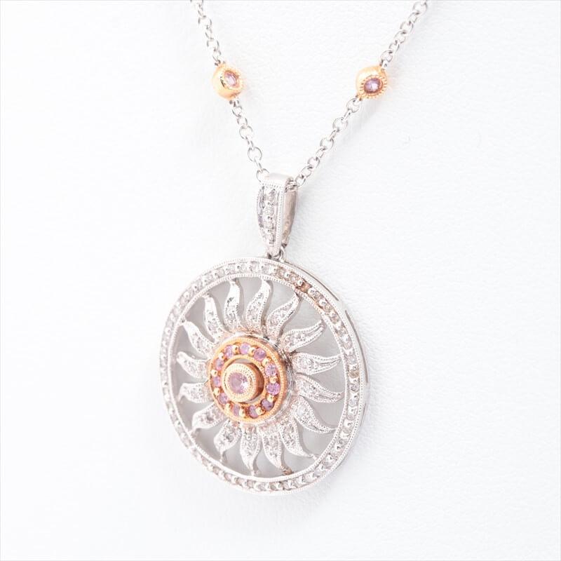 18金(750) クイーン サファイア ダイヤ ネックレス