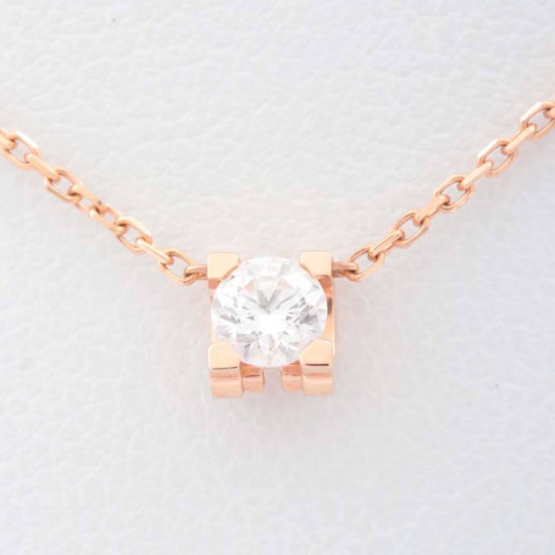 18金(750) カルティエ Cドゥカルティエ ダイヤ ネックレス