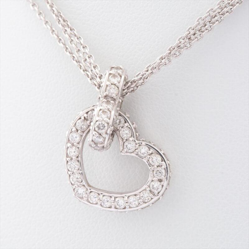 18金(K18) ホワイトゴールド ポンテヴェキオ ダイヤ ネックレス