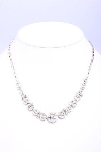 ダイヤ ネックレス(Pt850 , 3.31ct , 36.1g)