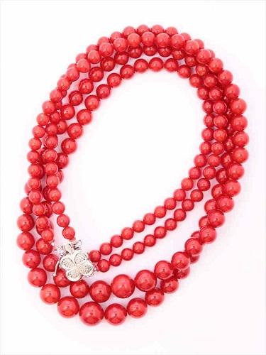 赤珊瑚(サンゴ)ネックレス K14WG