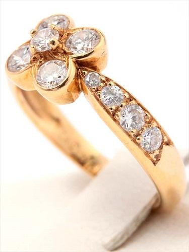 ヴァン クリーフ&アーペル オンベル ダイヤモンドリング K18(750) 3.2g