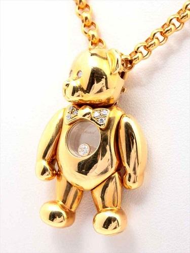 ショパール ハッピーダイヤモンド ネックレス クマモチーフ 750(K18)