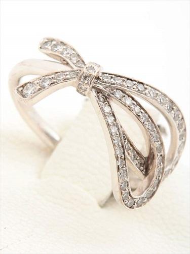 ティファニー ボウ リング ダイヤモンド K18WG