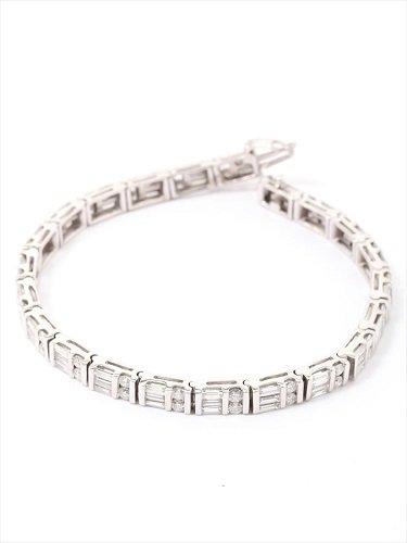 K18WG ダイヤモンド ブレスレット 5.00ct