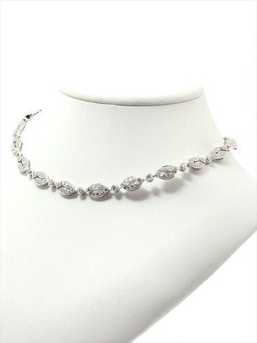 カルティエ ダイヤモンド ネックレス 750WG(ホワイトゴールド)