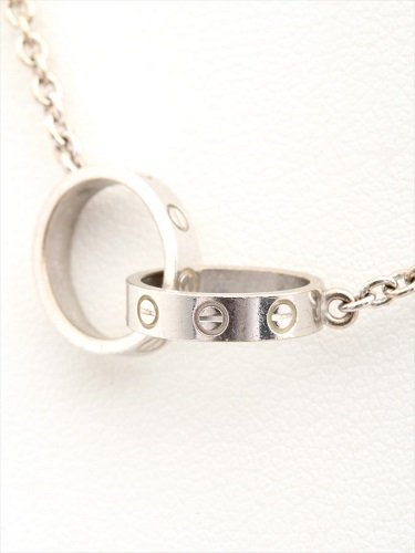 カルティエ(Cartier) ベビーラブネックレス K18WG 7.5g