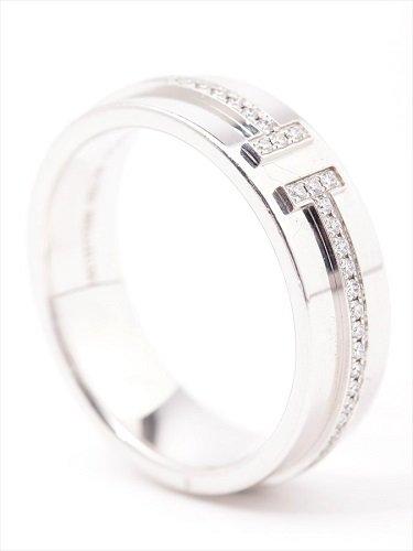 ティファニー ティファニー T TWOリング ダイヤモンド 750ホワイトゴールド