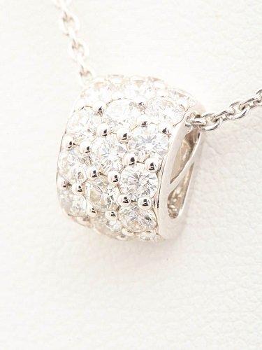 ミキモト ダイヤモンドネックレス K18WG 0.72ct