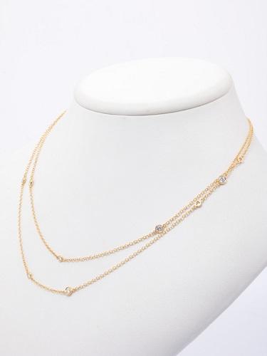 ティファニー ダイヤモンド バイ ザ ヤード スプリンクル ネックレス K18