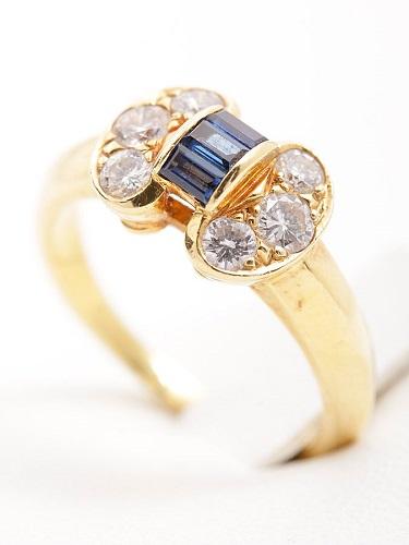 ヴァン クリーフ&アーペル セレスティンリング サファイア&ダイヤモンド K18