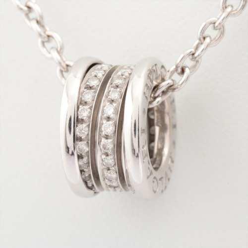 ブルガリ ビーゼロワン ダイヤ ネックレス 750 17.0g WG