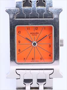 エルメス Hウォッチ HH1.210 SS/QZ オレンジ文字盤