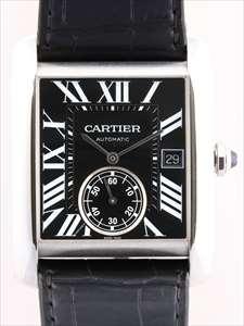 カルティエ タンクMC W5330004/3589 黒文字盤