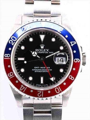 ロレックス GMTマスター 16700 黒文字盤 赤青ベゼル
