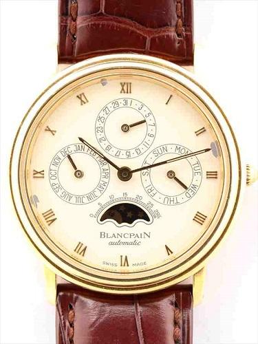ブランパン ヴィルレ パーペチュアルカレンダー K18YG(イエローゴールド)