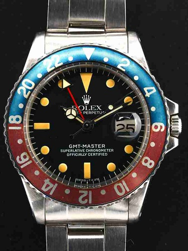 ロレックス GMTマスター 1675 赤青ベゼル
