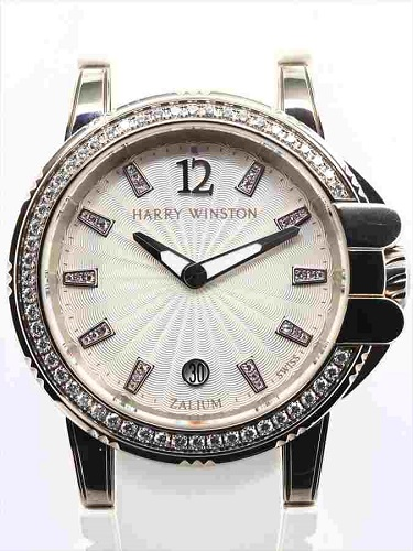ハリー・ウィンストン オーシャンスポーツ クオーツ 411-LQ36Z ベゼルダイヤ装飾