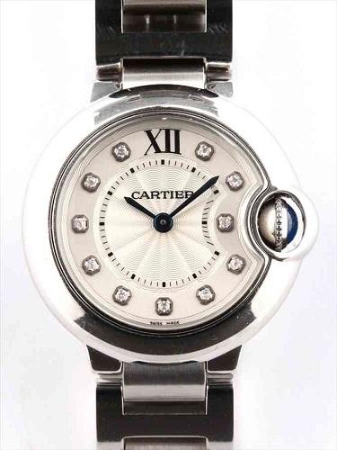 カルティエ バロン ブルーSM WE902073 SS×11Pダイヤモンド