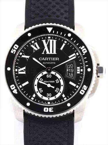 カルティエ カリブル ドゥ カルティエ ダイバー W7100056 SS×ラバー