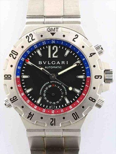 ブルガリ ディアゴノ プロフェッショナル GMT GMT40S ステンレスモデル