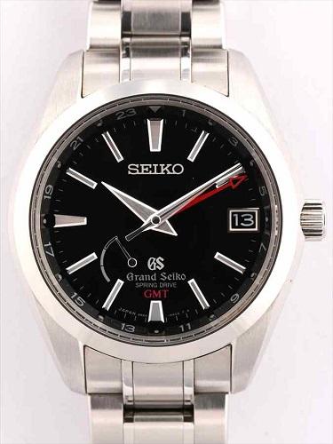 セイコー グランドセイコー スプリングドライブ GMT SBGE011 黒文字盤