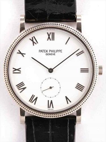パテック フィリップ カラトラバ 3919S K18ホワイトゴールド×白文字盤