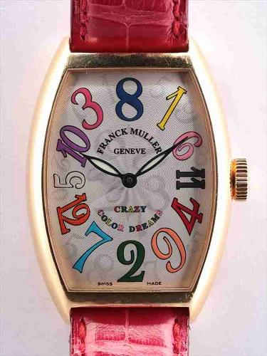 フランク ミュラー クレイジーカラードリーム 5850CH シルバーギョーシェ文字盤