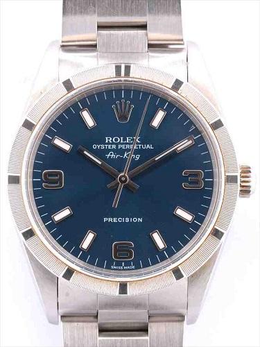 ロレックス エアキング 14010M K番 ブルー文字盤
