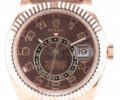 ロレックス スカイドゥエラー 326135 ブラウン文字盤