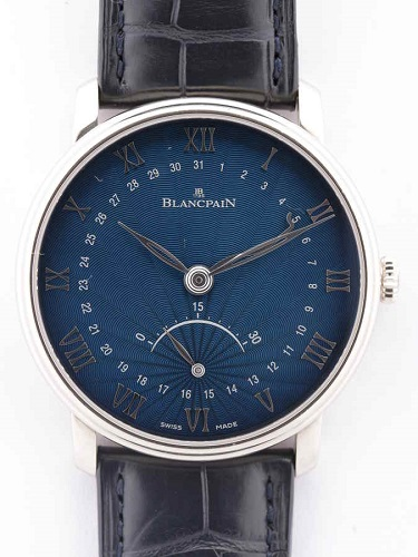 ブランパン ヴィルレ ウルトラスリム 6653Q-1529-55B ネイビー