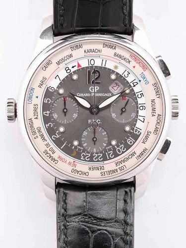 ジラール・ペルゴ WW.TC フィナンシャル クロノグラフ 49805 ブラックダイヤル