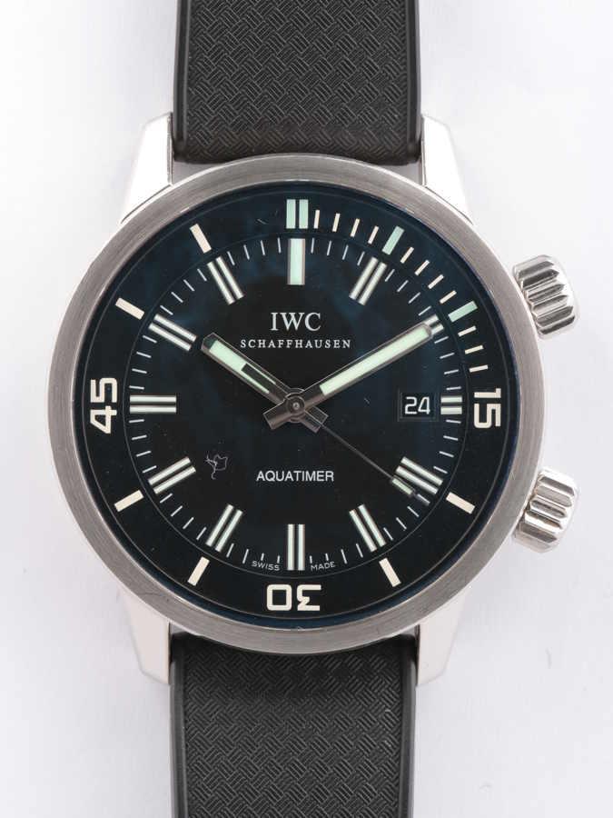 IWC ヴィンテージ アクアタイマー IW323101 SS/ラバー/AT 黒文字盤