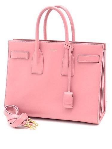 サンローラン クラシック サック・ド・ジュール 2WAYハンドバッグ ピンク