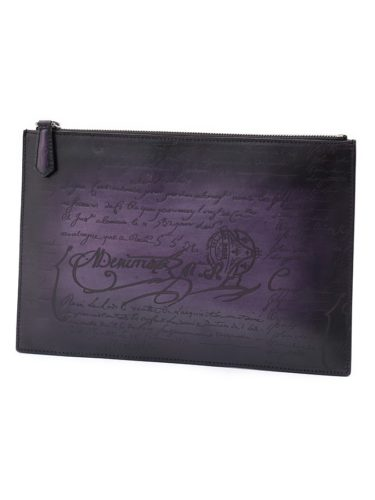 ベルルッティ カリグラフィ クラッチバッグ 紫