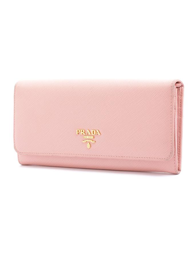 プラダ サフィアーノ 長財布 ピンク