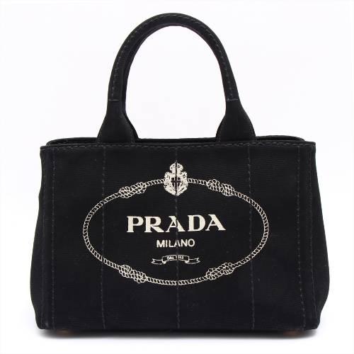 プラダ カナパ キャンバス 2WAYハンドバッグ ブラック
