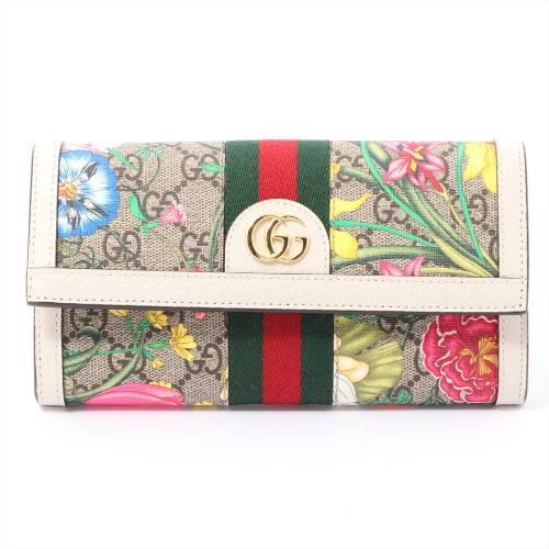 グッチ GGフローラ オフィディア PVC 財布 マルチカラー 523153
