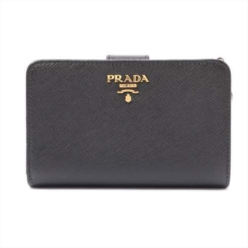 プラダ サフィアーノメタル 1ML225 レザー 財布 ブラック