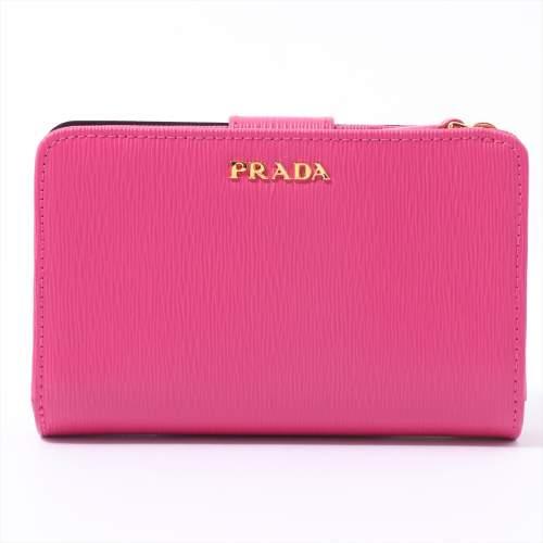 プラダ ヴィッテロムーブ 1ML225 レザー 財布 ピンク