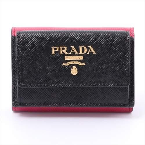 プラダ サフィアーノ マルティック 1MH021 レザー 財布 ブラック