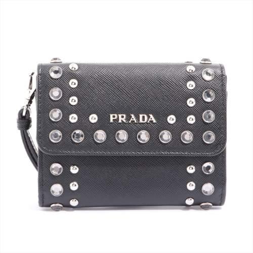 プラダ サフィアーノボルチ 1M1442 レザー 財布 ブラック