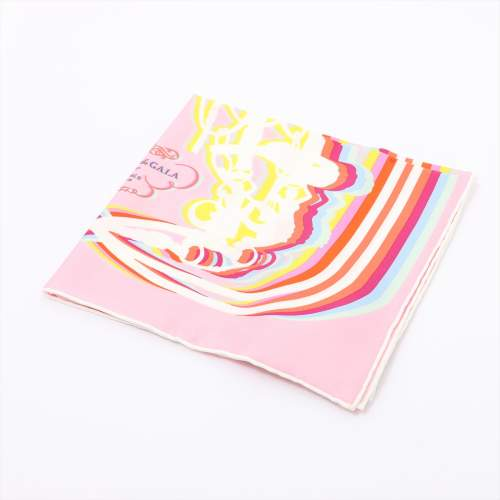 エルメス カレ45 「Brides de Gala Shadow(ブリッドドゥガラシャドー)」 スカーフ シルク ピンク