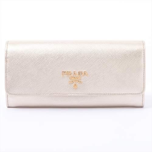 プラダ サフィアーノメタル 1ML132 レザー 財布 ゴールド